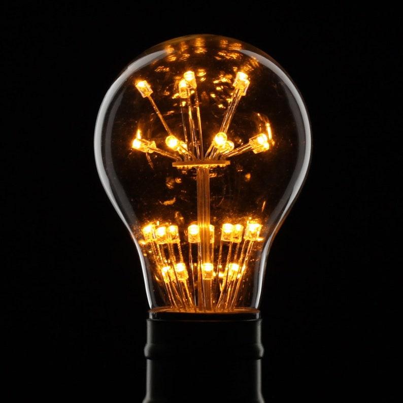 TIANFAN Led Bulbs Starry Edison Bulb Firework Light Bulb 3W AC85-265v E27 Base RGB Warm White  Decorative Light Bulb A60