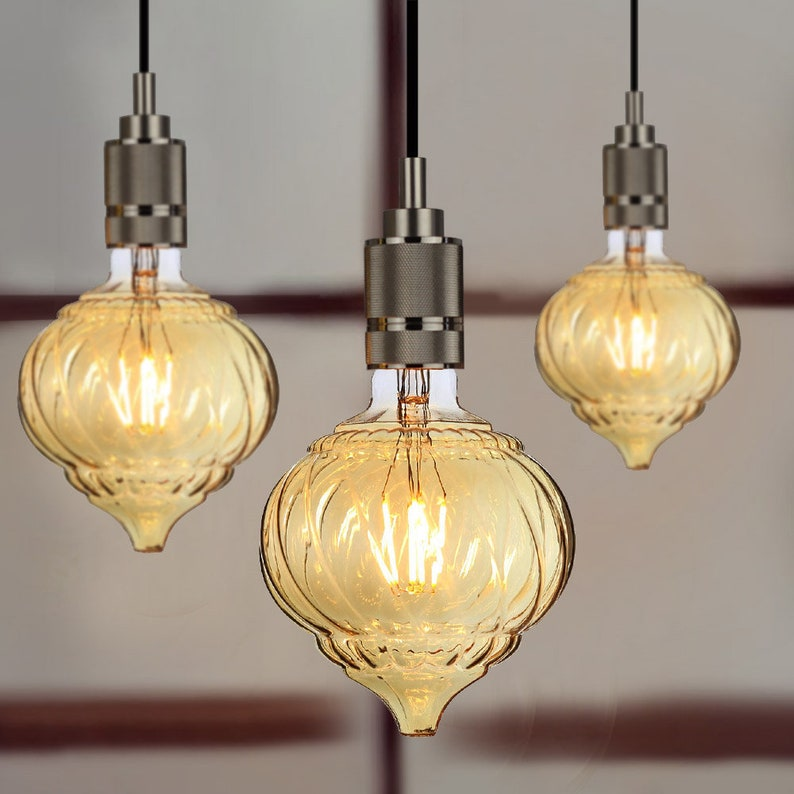 TIANFAN Led Bulbs Vintage Light Bulb Spiral Led Filament 4W Dimmable 220240V E27 Decorative Light Bulbs G125 Lantern