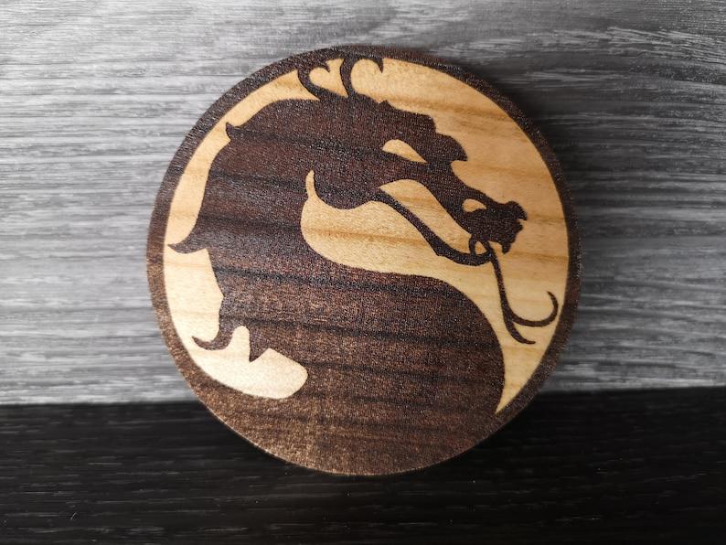 Wooden Qi Mortal Kombat Wireless charger