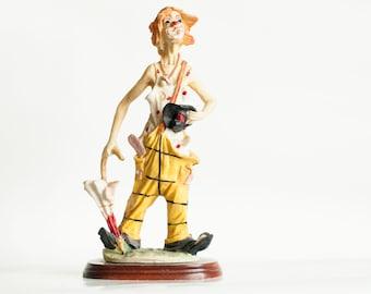 Porcelain Figurine Capodimonte Figurine Clown Vintage Capodimonte Figurine Clown Decor Italian Porcelain Figurine Vintage Italian Gift
