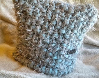 Fuzzy Fuzzy Blue Kitty Cat Hat