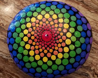 Rainbow Rock Mandala