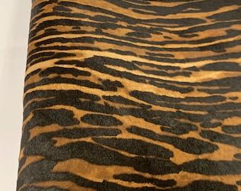 BROWN beige green    Hair On PRINTed Cavallino cavalino ponny Calf skin hide leather MR19MAY