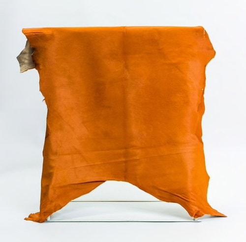a024a2b3d564 Orange vache Crush veau cheveux sur cuirs et peaux, vache Orange cacher  d agneau