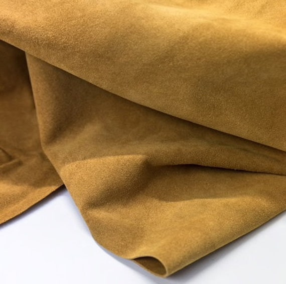 Golden Honey Split Suede split cow leather Cow hide suede leather soft leather for bags and shoes Calf skin suede