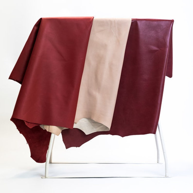 Cherry berry Nappa Leather for Clothing Handbags and Shoes Making Wine Berry Soft Nappa leather Cherry Lamb Skin Leather Hides