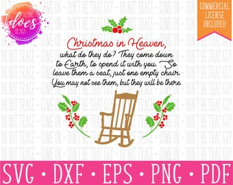 image about Christmas in Heaven Poem Printable titled Heaven svg Etsy