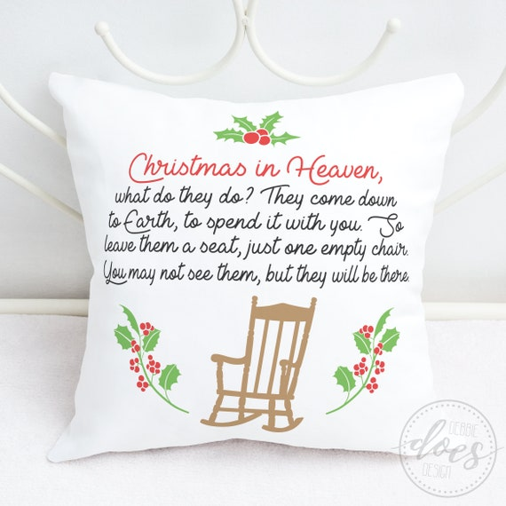 Christmas In Heaven Poem Svg.Christmas In Heaven Chair Poem Circle Svg Digital Cut Files Htv Svg Vinyl Decal Svg Vinyl Stencil Svg