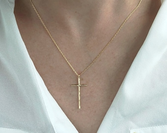 Gold cross necklace  5ff1303628