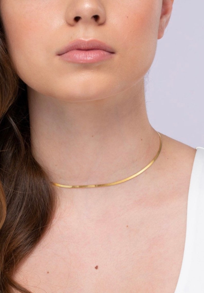 thin necklace snake chain necklace Dainty Necklace layering necklace silver necklace gift for he dainty necklace necklaces for women