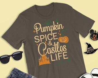 f4672837 Pumpkin Spice & Castles Life Shirt, Disney Halloween Shirt, Boo To You Shirt,  Mickey's Not So Scary, Mickey Halloween Shirt, Mickey Pumpkin