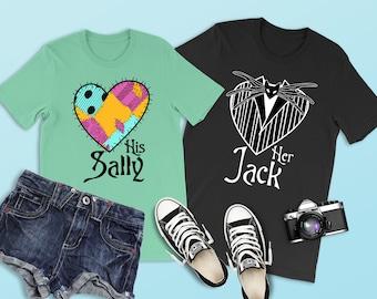 0bd47960 His Sally Shirt, Sally Shirt, Jack and Sally, Disney Matching Shirt  Halloween, Disney Couple, Nightmare Before Christmas, Disney Anniversary