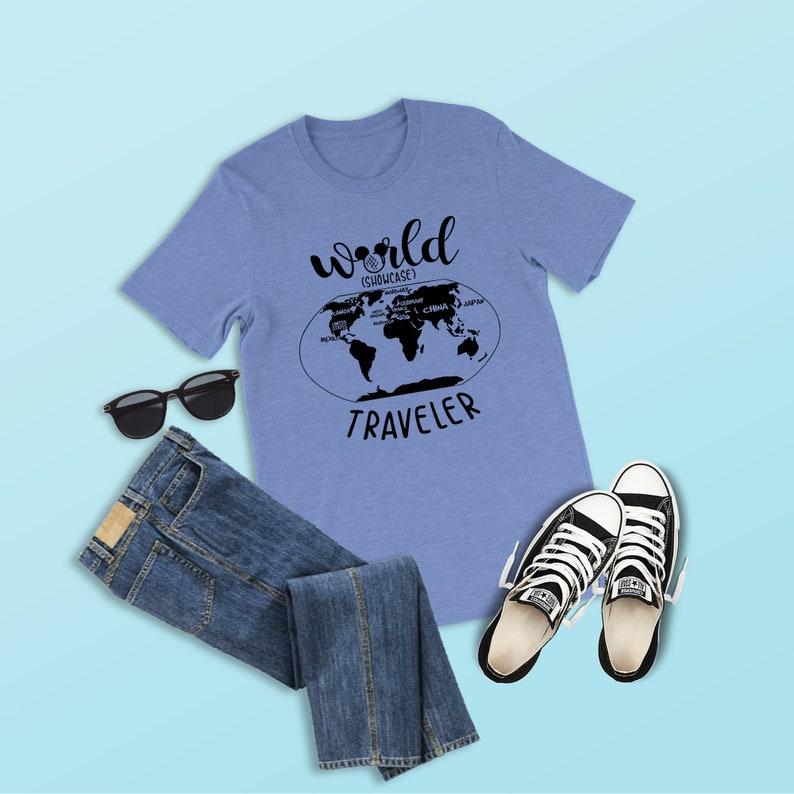 World Showcase Traveler Shirt Epcot Shirt Disney Shirt Food | Etsy