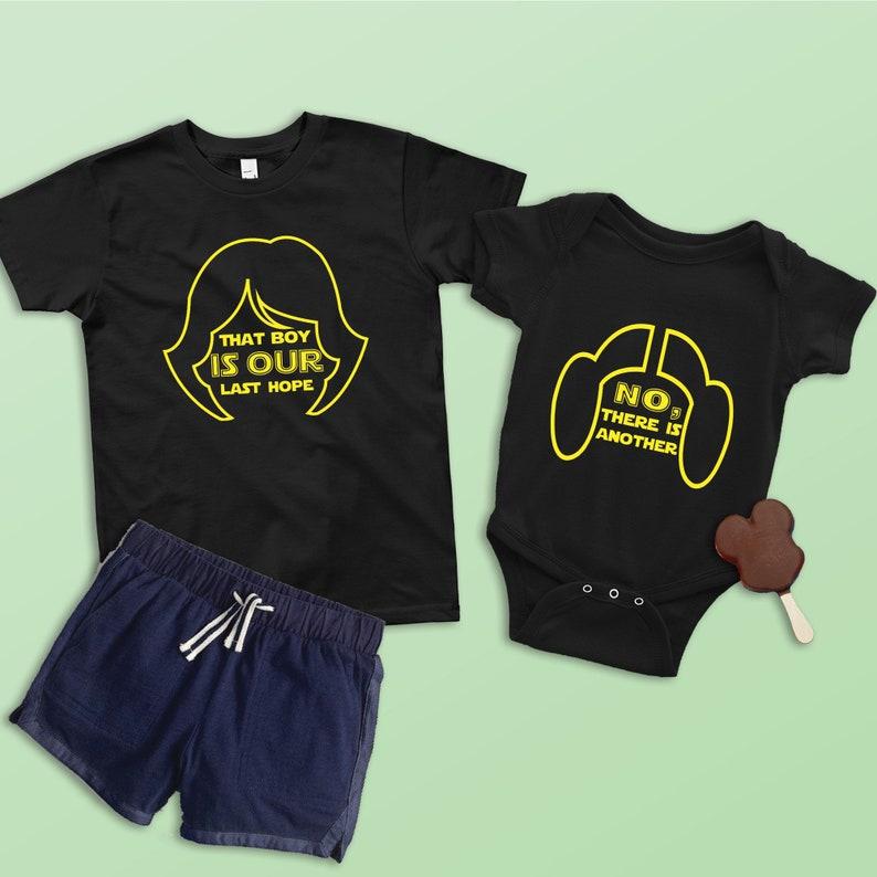 ef4270b9c That Boy is Our Last Hope Kids Shirt Luke and Leia Star Wars