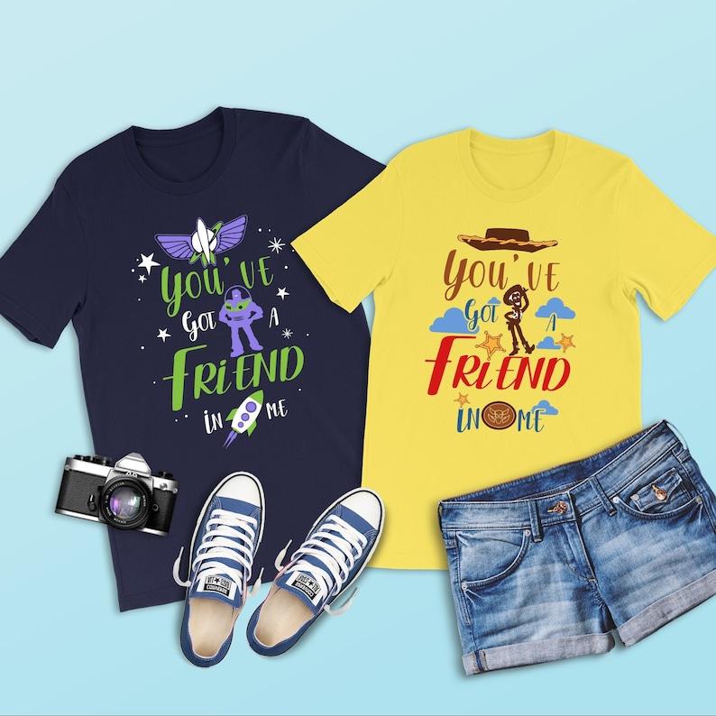 5c27679b85855 You've Got a Friend in Me Shirt, Buzz Lightyear Shirt, Toy Story Shirt,  Couples Disney Shirts, Best Friend Shirt, Disneyland, Buzz and Woody