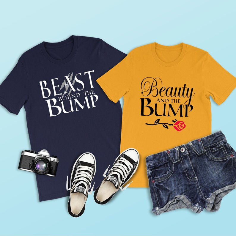 e10df8dc1564b Beast Behind the Bump Shirt Beauty and the Beast Shirt | Etsy