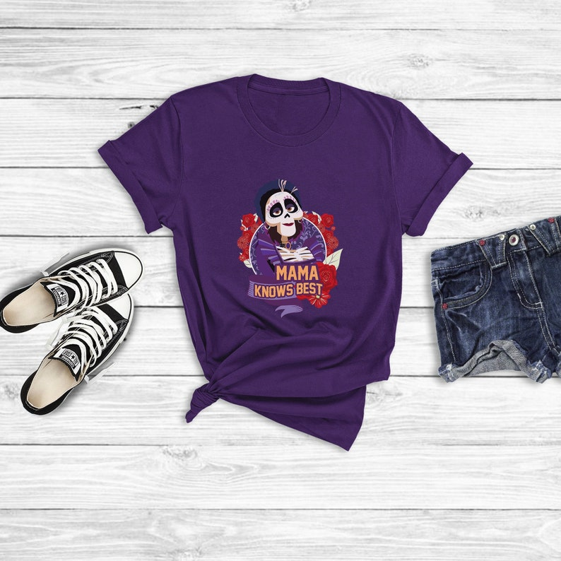 982b31d410fe0 Mama Knows Best Shirt, Coco Shirts, Mama Imelda Shirts, Coco Halloween,  Mothers Day Gift From Daughter, Disney Family Shirts, Disney World