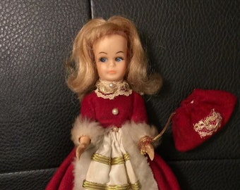 50s Little Christmas Doll Seven Inches Tall