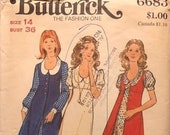 Vintage 1960s Butterick Sewing Pattern For A Dress And Vest- Size 14