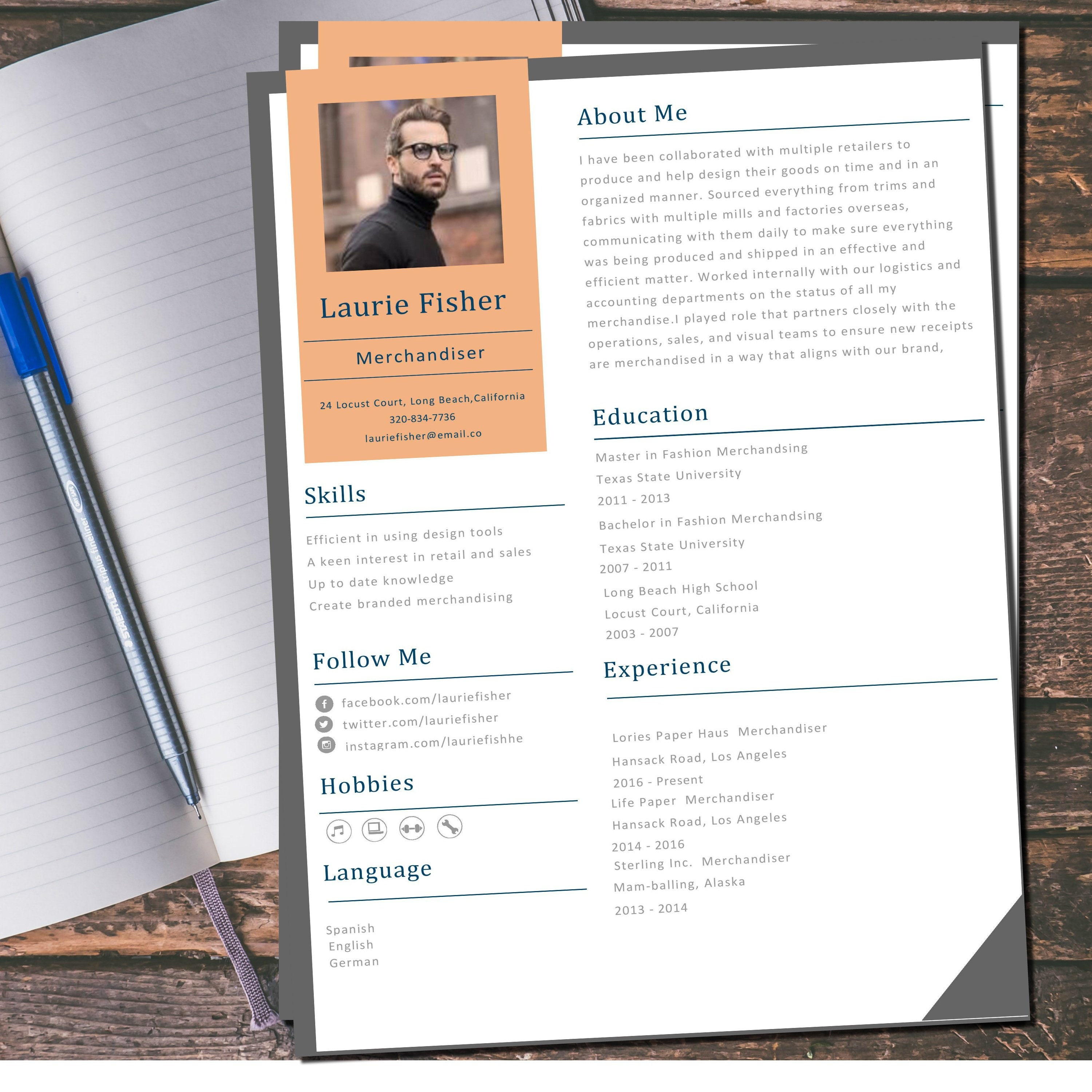 """Creative CV template in """"word"""" and """"pages"""" format fully customizable with  cheat sheet checklist included as a bonus. Instant Download. Within Cheat Sheet Template Word"""