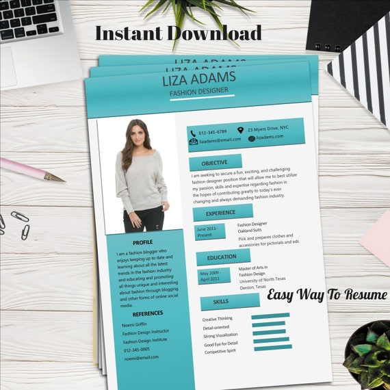 Fashion Designer Cv Word And Pages Etsy