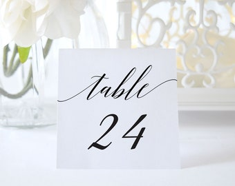 Table Numbers Template,Wedding Table Numbers,Table Numbers Printable,Tented Table Numbers,Folded Table Numbers,Calligraphy,Instant Download