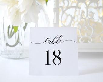 Table Numbers 1-40,Wedding Table Numbers Printable,Table Numbers Template,Calligraphy Table Numbers,Table Numbers Tented,Folded Table Number