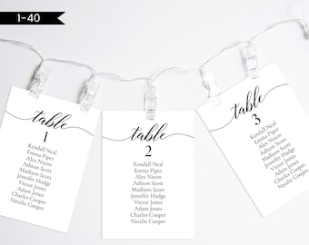 wedding seating chart template etsy