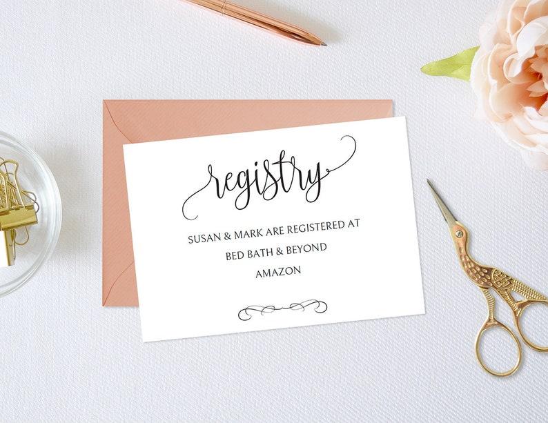Registry Card Template,Wedding Registry Card,Gift Registry Card,Registry Card Printable,Registry Card Wedding,Registry Card PDF,JUH06