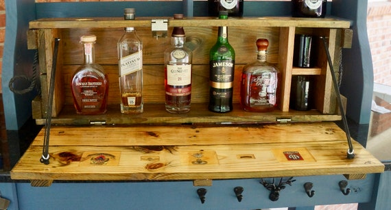 Whisky Bar made from a repurposed ammunition crate farewell | Etsy