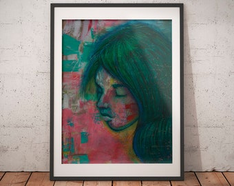Art Print · Art Giclée Print · Wall Art · Pastels Art · Acrylics Art · Abstract Art · Figurative Art ·