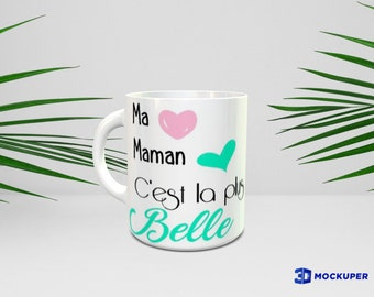 Mother mug, personalized (names, colors) mother's day.