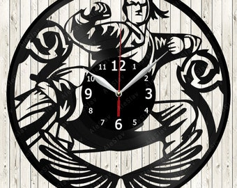 Martial Arts Vinyl Clock Handmade Art Decor Your Room Original Gift 1729