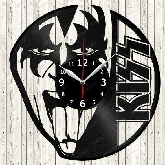 Vinyle murale horloge vinyle exclusif fait à la main Record horloge Art déco du baiser le meilleur Original cadeau Vinyl Record horloge murale 2351