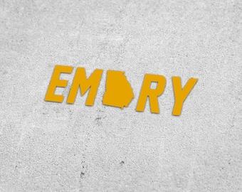 228081d8645a Emory University Vinyl Decal   Georgia Sticker
