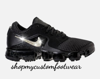 237ff8514d85 Black Nike Vapormax Customized with swarovski Crystals