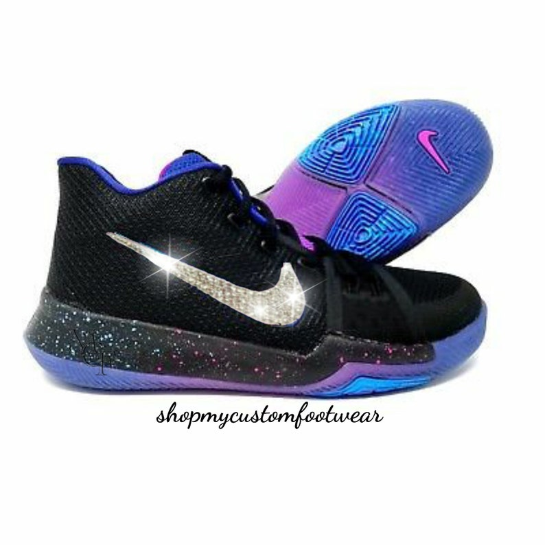 6a44b10ad83e8 Nike Kyrie customized with swarovski Crystals