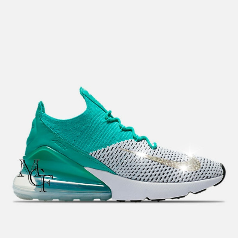 Nike Air Max 270 Flyknit customized with Swarovski crystal  d80f19d25