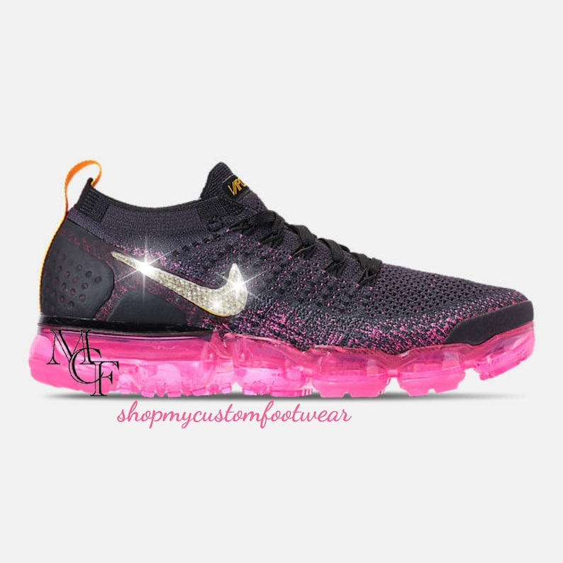 sports shoes 3ea56 083d9 Nike vapormax Flyknit 2 customized with Swarovski crystal