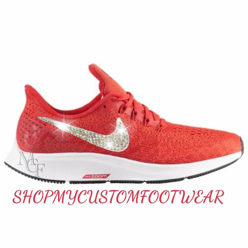 94857de4430f Women s Nike Air Zoom Pegasus 35 Customized with Swarovski