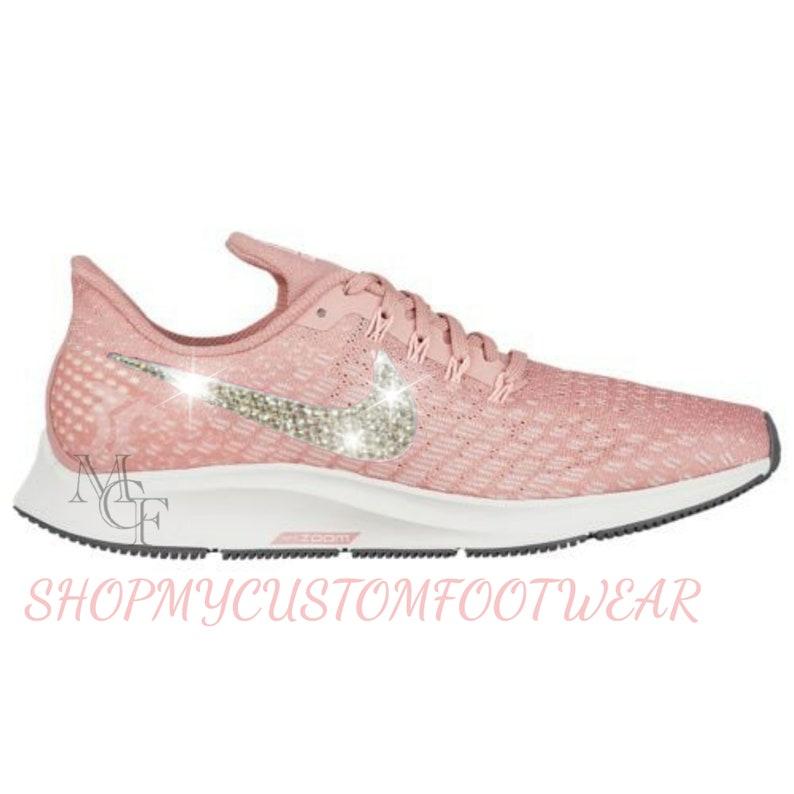 pretty nice 338b2 9c33e Women's Nike Air Zoom Pegasus 35 Customized with Swarovski Crystals