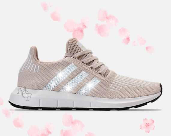 3ae7427309319 Adidas Swift run customized with Swarovski crystal