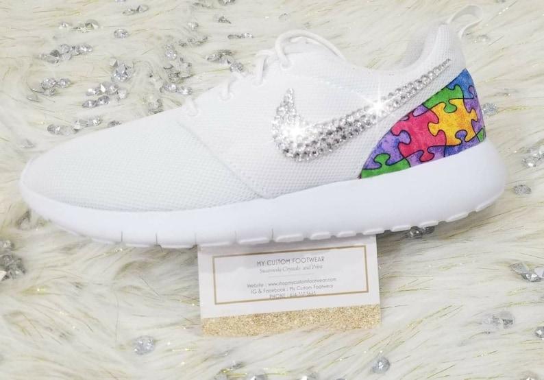 Custom Autism Puzzle Print Nike Roshe Run from