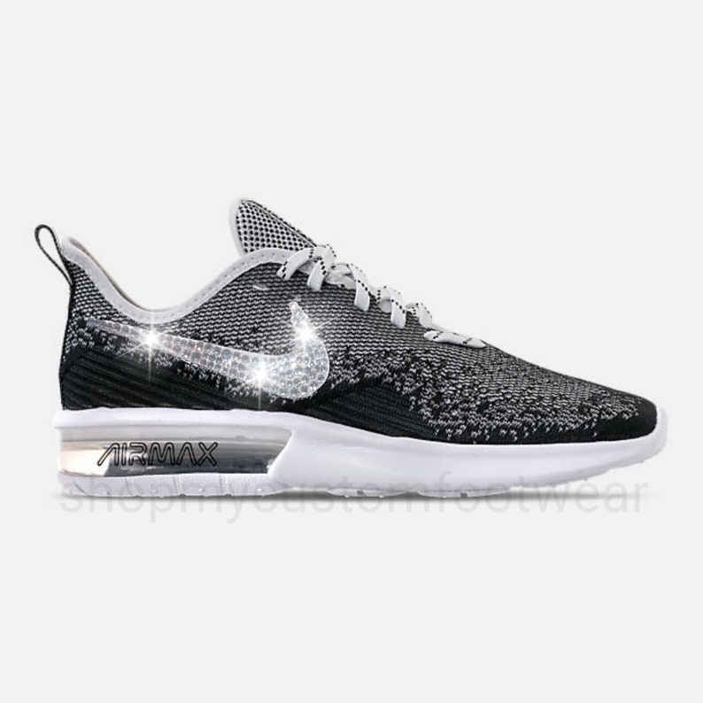 Nike air max sequent 4 customized with Swarovski Crystal  c5065a65f