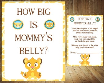 Create Your Own Game Bundle Lion King Baby Shower Games Lion Etsy