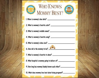 Lion King Baby Shower Games Etsy
