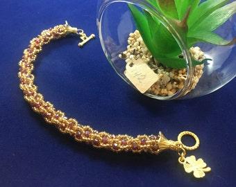 Czech Crystal and Bead woven Bracelet