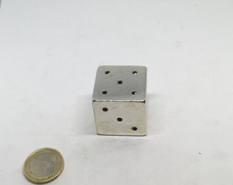 Large silver dice