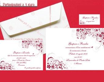 Wedding Invitation kits, marriage participations, customizable