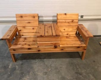 Double Adirondack chair With Cooler local pickup or delivery   South Dakota